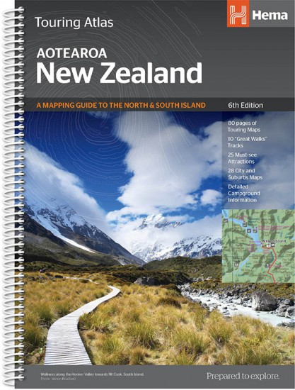 New Zealand Sightseeing Map.New Zealand Driving Atlases