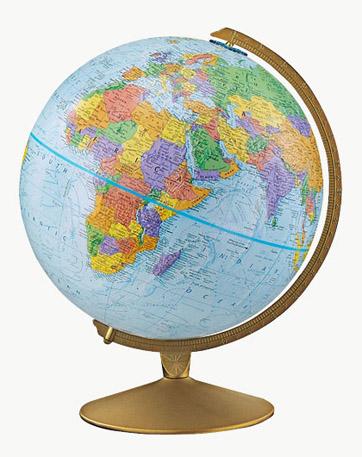 Globes World Map Globe on