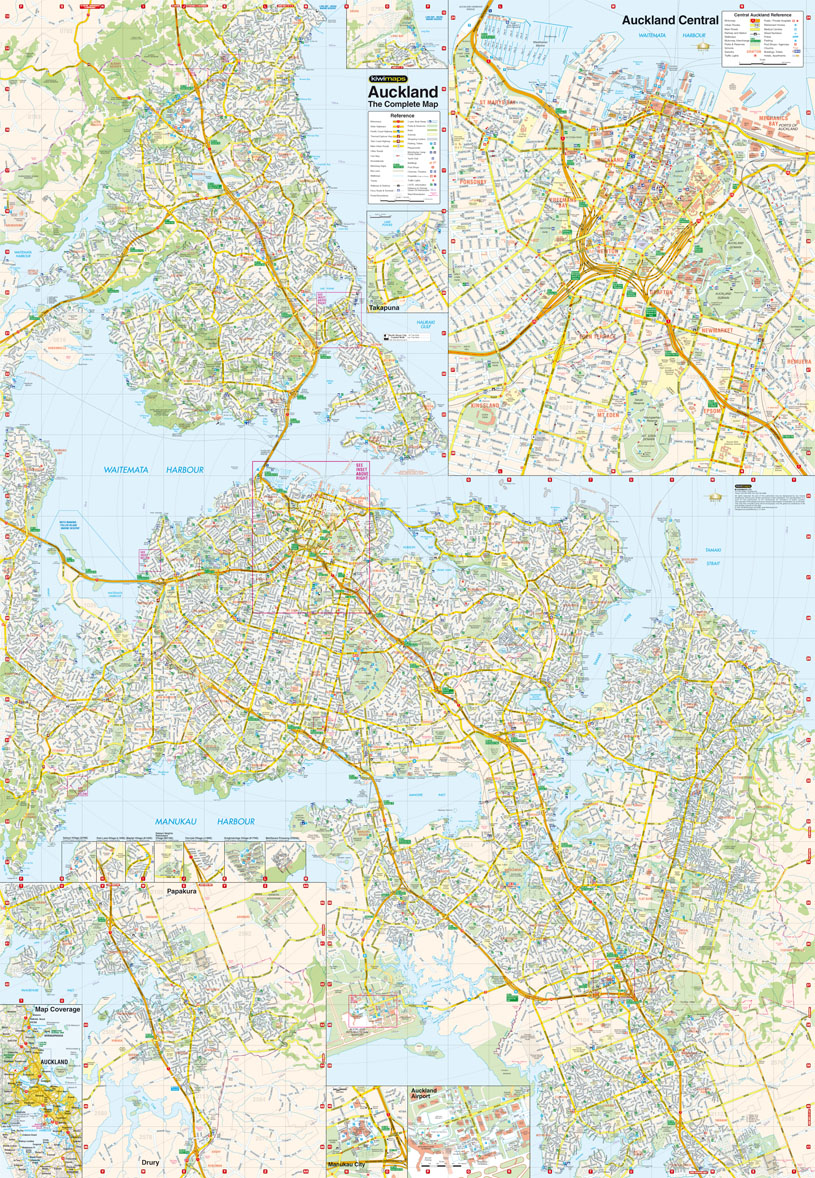 kiwimaps auckland complete map