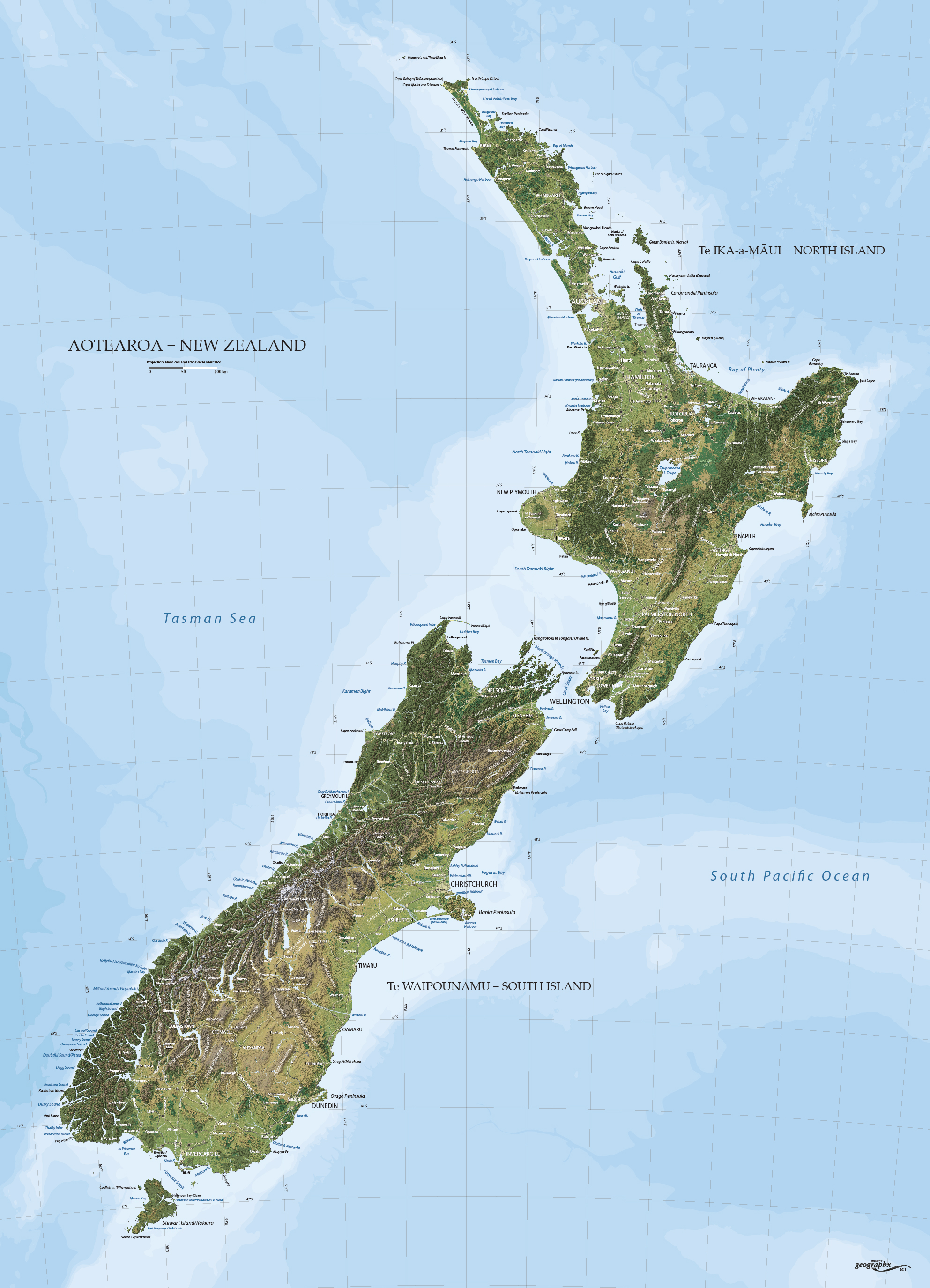 New Zealand On The Map.Mapworld Home Page