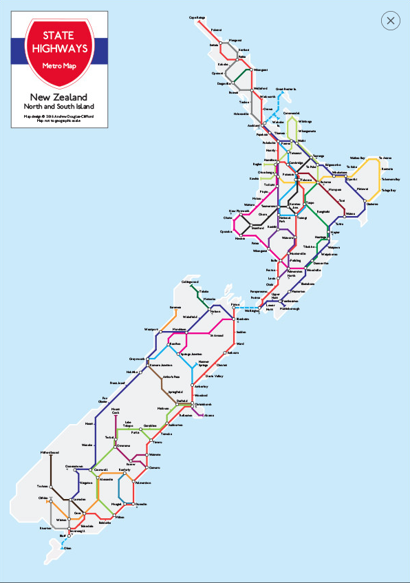 New Zealand Wall Maps - Map new zealand
