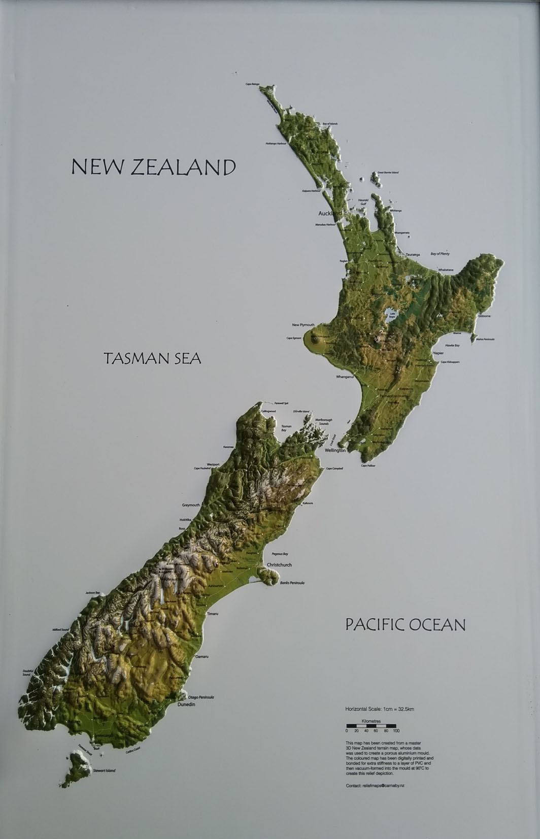 Printable Map Of South Island New Zealand.New Zealand Wall Maps