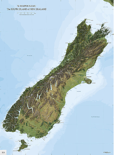New Zealand Wall Maps - New zealand map