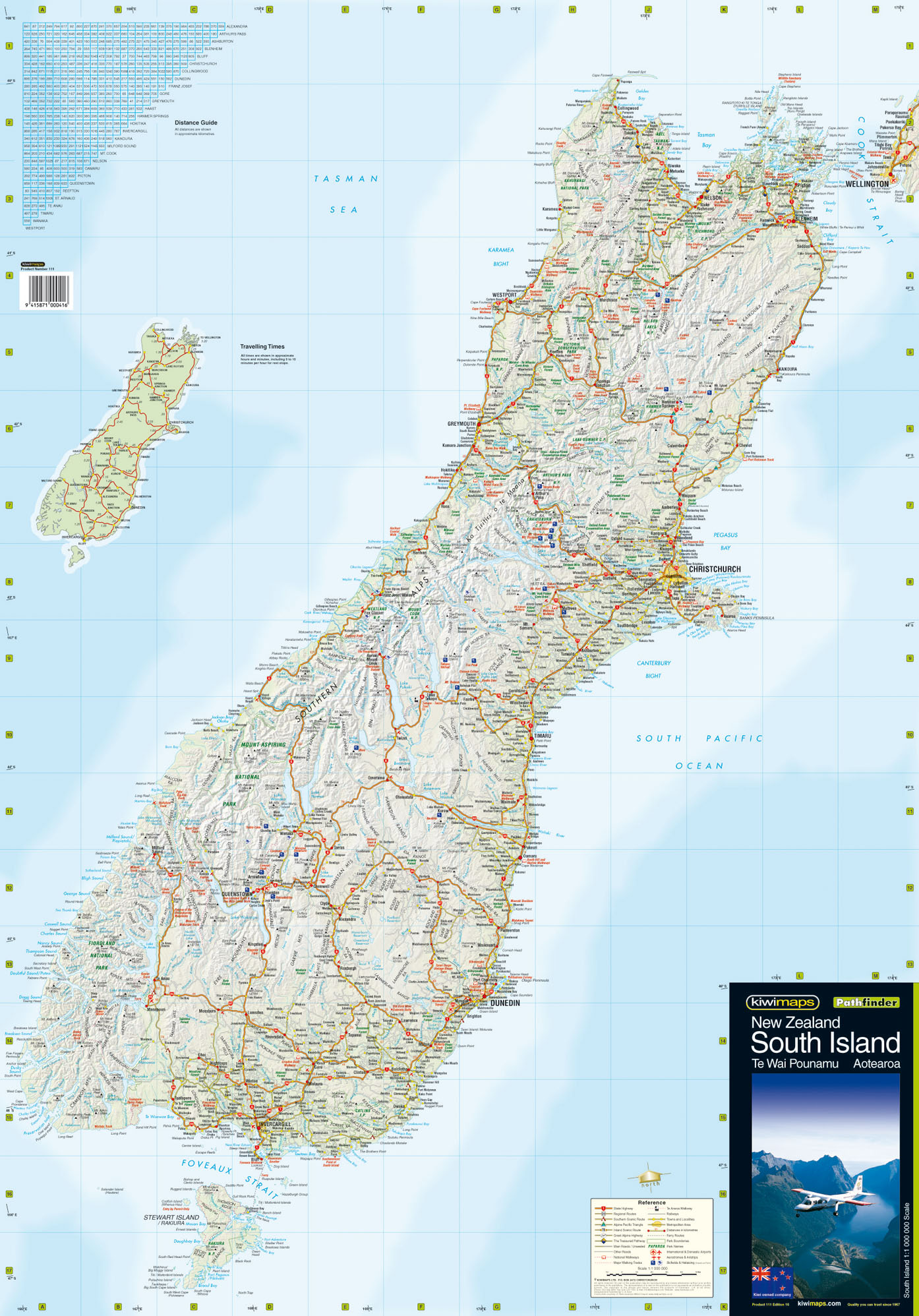 Map New Zealand South Island.South Island Wall Maps
