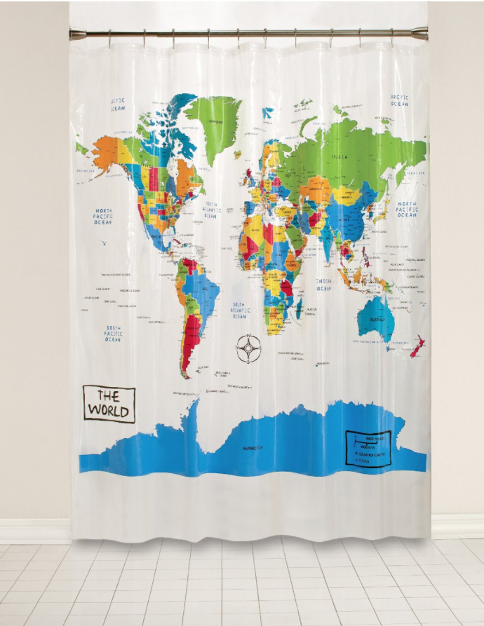 Unusual maps shower curtain map gumiabroncs Image collections