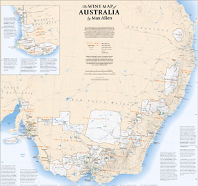 map title wine map australia projection unknown scale unknown size 690w x 870h mm availability folded only unlaminated price 2490
