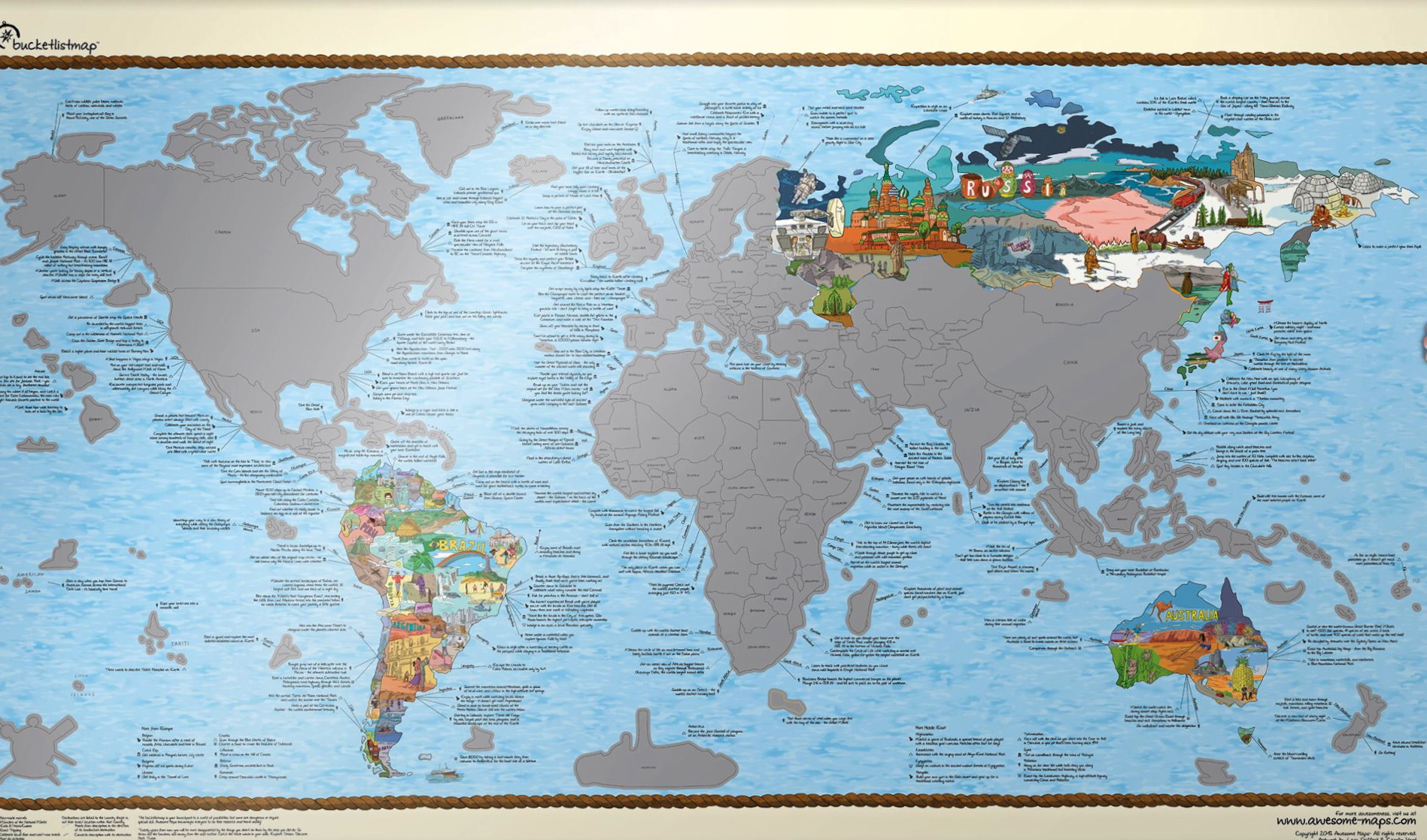 World Scratch Maps