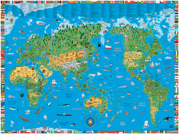 Children 39 s Map of the World