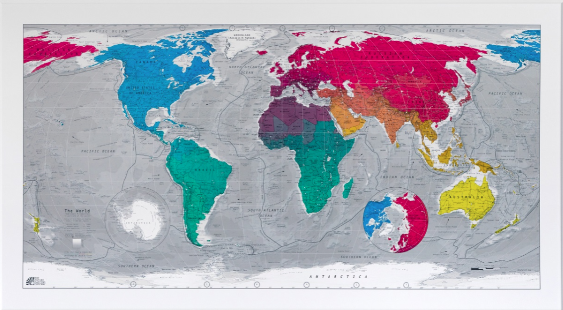 Wall maps of the world map title magnetic world map publisher futuremap style political centred atlantic colour bright size 1010 x 570 mm price 229 gumiabroncs Choice Image