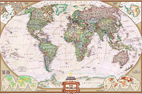 Wall maps of the world map title political mural publisher national geographic style political centred atlantic colour antique or blue size 1930 x 2800 mm price 350 gumiabroncs Image collections