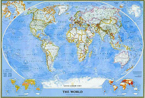 Www Map Of The World.World Mural Maps