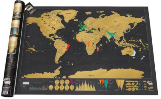 Wall maps of the world map title scratch world map deluxe publisher luckies style political centred atlantic colour black size 600 x 850 mm 5990 gumiabroncs Image collections