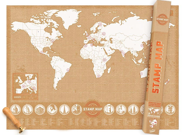 World scratch maps map title stamp world map publisher luckies style political centred atlantic colour gold size 820 x 590 mm price 7990 gumiabroncs Image collections