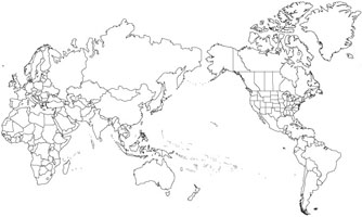 Wall Maps of the World